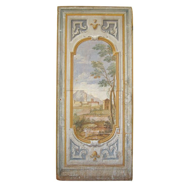 18th Century Italian Door with Original Paint