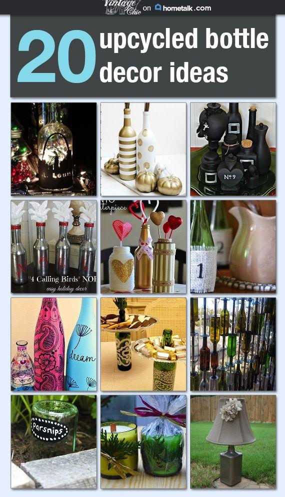 20 Upcycled Bottle Decor Ideas