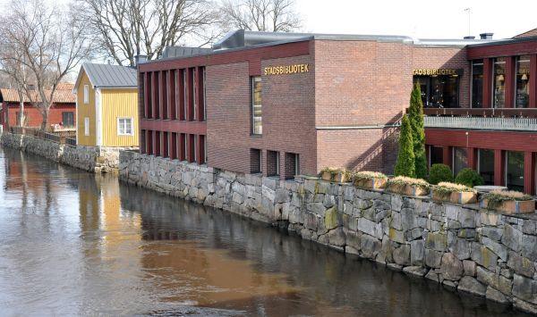 Arboga stadsbibliotek, bibliotekshuset i mars.
