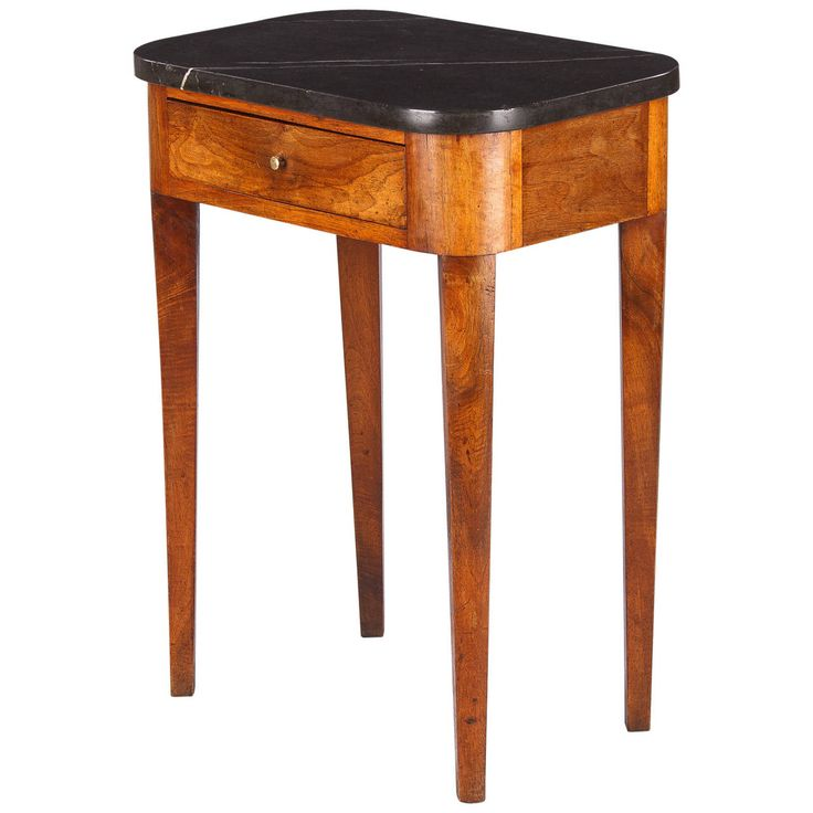 19th Century French Louis Philippe Marble Top Side Table