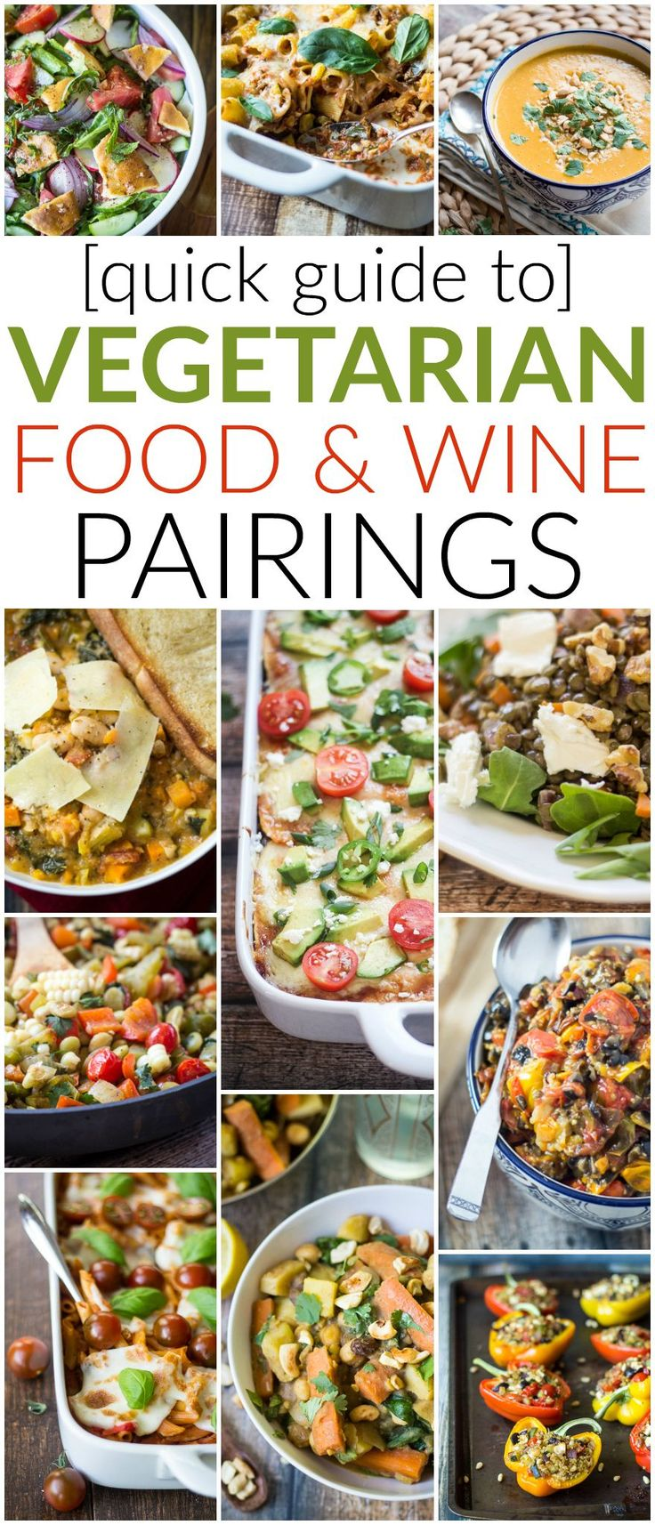 Red wine with beef, white wine with fish, right? What about vegetarian recipes? Check out this quick guide to Vegetarian Wine Pairings for recommendations on how to pair wine with classic (and exotic!) vegetarian soups, salads, dinners, lunches, and everything in between!