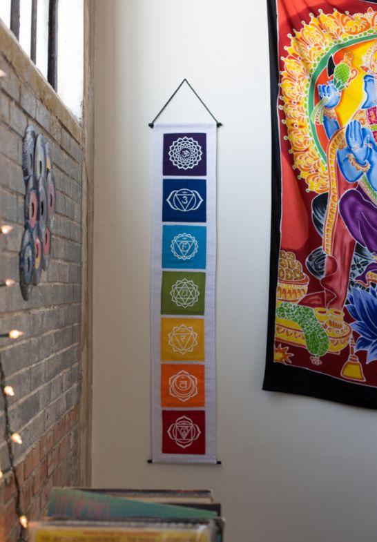 Chakra Banner. #meetthemakers #handpainted #chakra #earthboundtrading