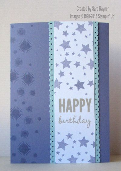 Perpetual birthday card, using supplies from Stampin' Up! www.craftingandstamping.com #stampinup