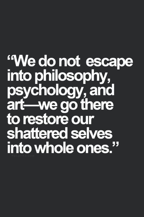 to restore our shattered selves... #quietrev #introvert #INTJ