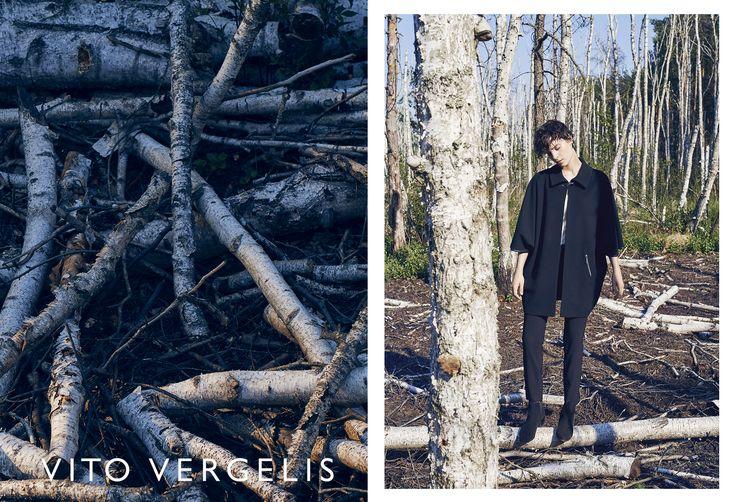 VITO VERGELIS campaign FW15/16 photos: Zuza Krajewska, model: Charlotte Tomaszewska #vitovergelis #fashionbrand #polskamarka #zuzakrajewska #blackcoat #poncho