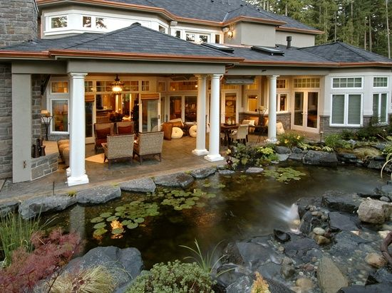covered back porch | Future Home | Pinterest on Covered Back Porch Ideas id=94913