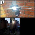 Levivo 331800000062 LED Strahler mit Bewegungsmelder, Metall, schwarz