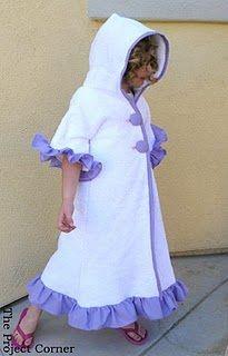 Ruffled kimono swim cover-up tutorial for little girls