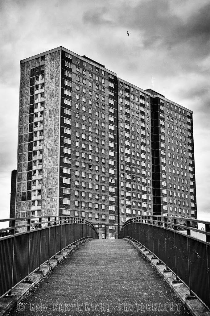 Pinkston estate tower blocks in Sighthill, Glasgow