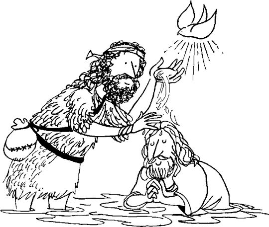 jesus playing sports coloring pages | 230 best images about Baptism on Pinterest | Word search ...
