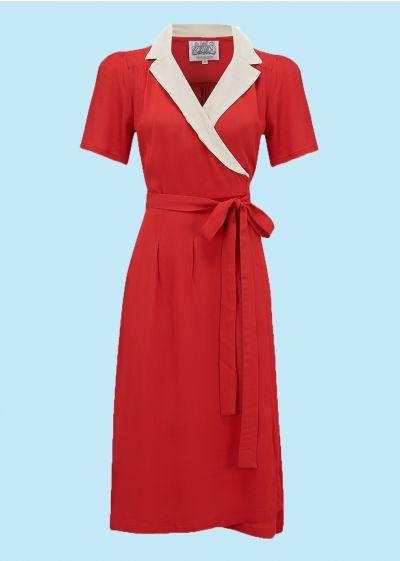 Flot slå om kjole i 1940er / 1950er snit
