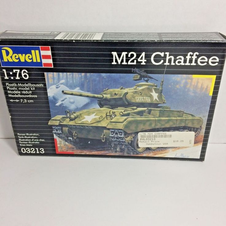 Revell 03213 M24 Chaffee 1:76 Scale Model Kit Armor Military #Revell