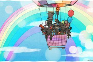 rainbows, Team Fortress 2, Pyroland Wallpaper