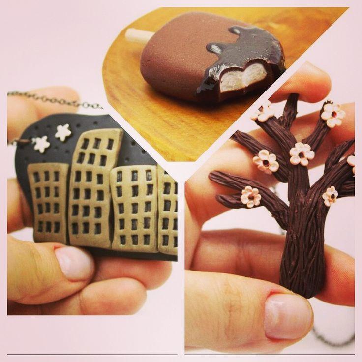 """""""Miniature Food Art"""" sanatının Türkiye'deki ilk temsilcisi Yummy Küpe' 'ün birbirinden güzel kolyeleri Bohemma Serisi Ile http://goo.gl/l1EVxu linkinde."""