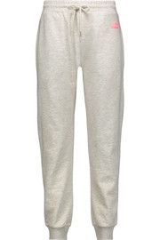 McQ Alexander McQueen Marled cotton-jersey track pants