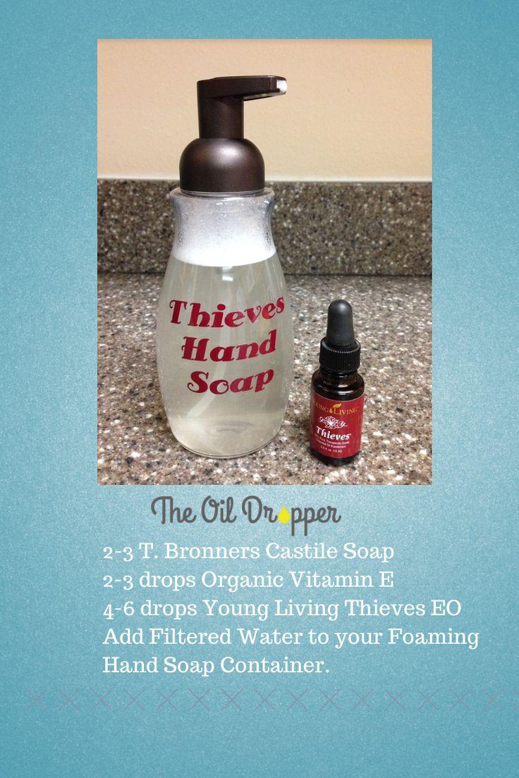 DIY Young Living Antibacterial foaming hand soap. www