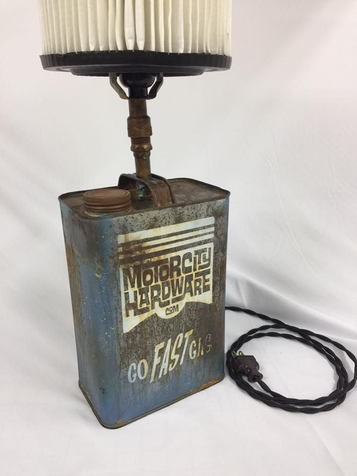 Motor City Hardware piston Gas can l& Tribute for your man cave or garage. The item you receive may vary from picture these are tin cans they may have ... & 46 best light ideas images on Pinterest | Creative Desks and Home ... azcodes.com
