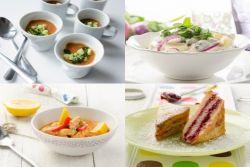Ein Kichererbsen-Suppe, Bärlauch-Kartoffelsalat, Putengulasch und Arme Ritter. mmmmh
