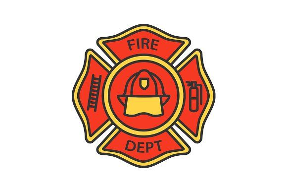 Fire Department Badge Color Icon Fire Department Badge Icon