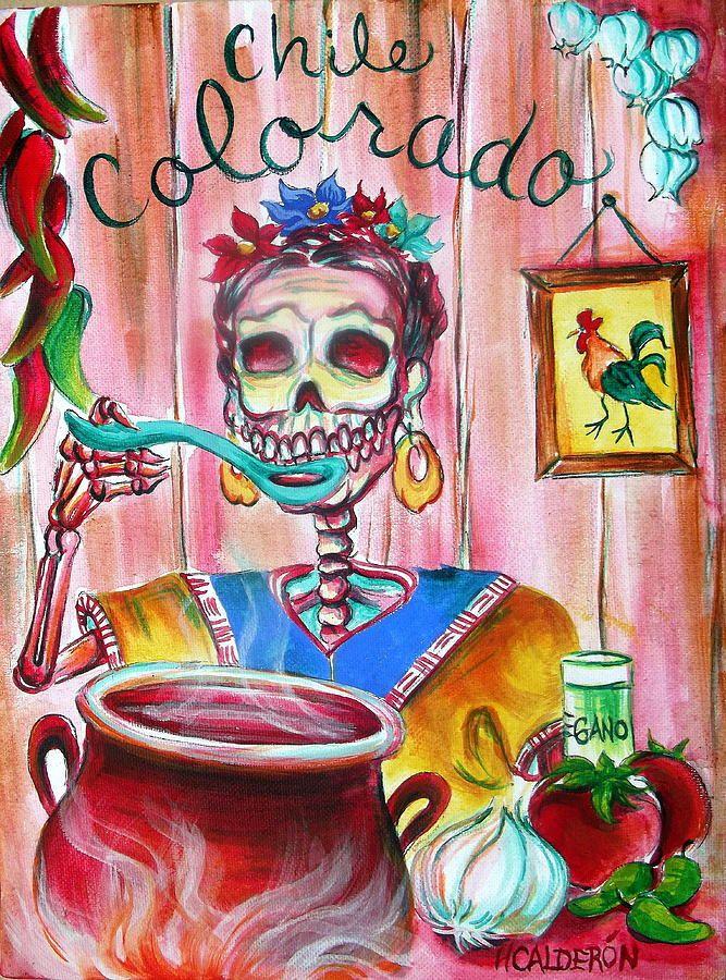 Chile Colorado Painting  - Chile Colorado Fine Art Print