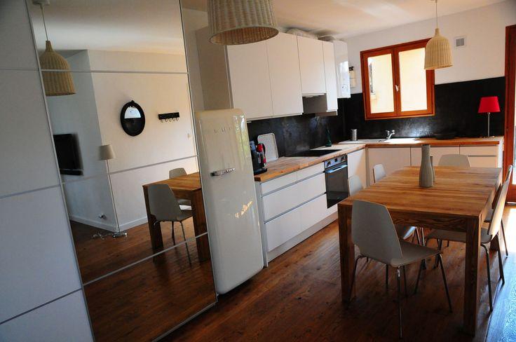 salon cuisine ouverte 30m2 - Recherche Google ambiance Pinterest - prix extension maison 30m2