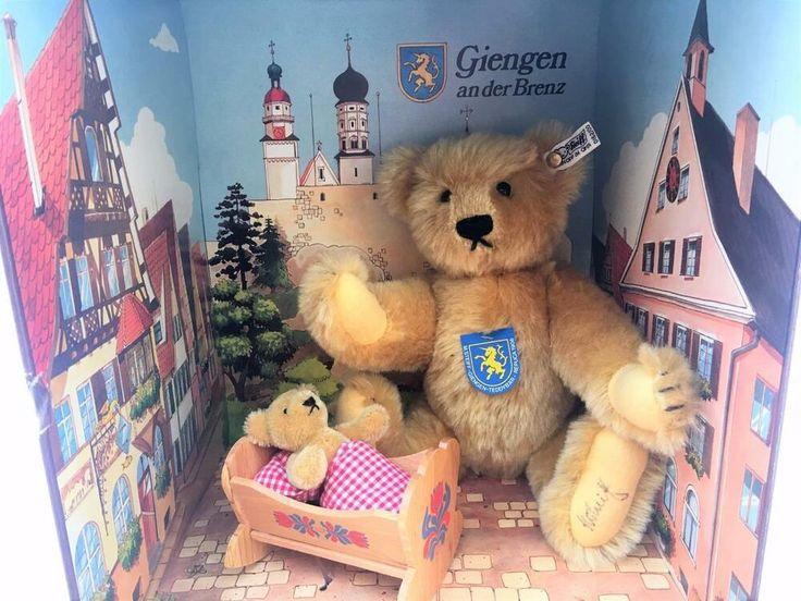 Steiff 2 Bear Set Double Signed Margaret Giengen Brenz Germany Baby Cradle Le Steiff Alloccasion Steiff Teddy Bear Wooden Cradle Pet Toys