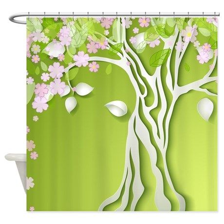 Spring Tree Shower Curtain on CafePress.com