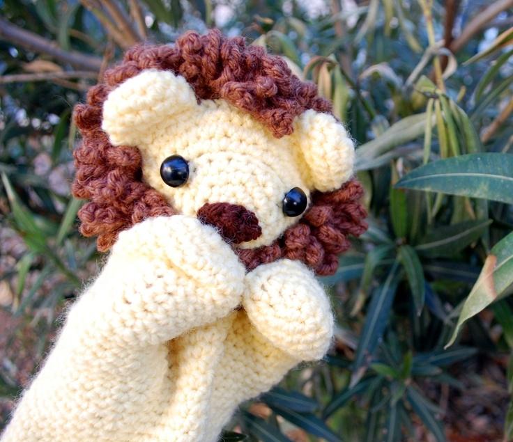 Cuddly Lion Hand Puppet Crochet Pattern - Inner Child Crochet