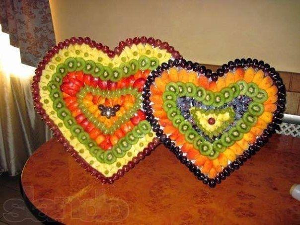 Сердце из фруктов своими руками фото