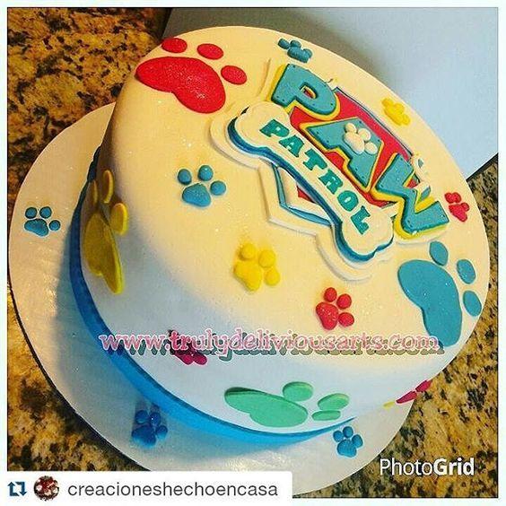 #Repost @creacioneshechoencasa with @repostapp ・・・ Paw Patrol Cake!! #paws #pawpatrolparty ...
