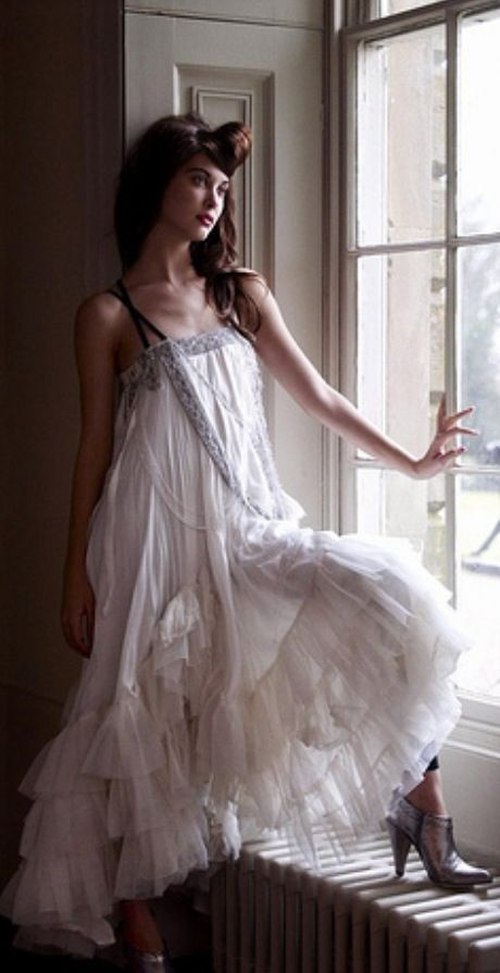 Bohemian romantic white dress. For more follow www.pinterest.com/ninayay and stay positively #pinspired #pinspire @ninayay
