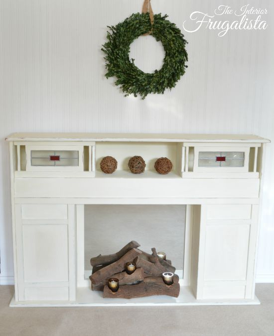 Faux fireplace and Fireplace facade
