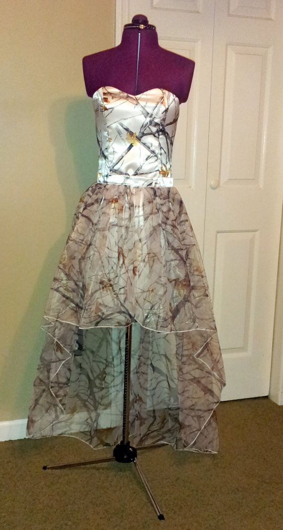 CAMO Dress MadeToOrder Slim Fit Dress with by SewingCamoGowns, $299.00 ~ I want this for prom! OMG! ~