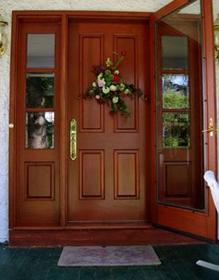 Inspirational Wood Front Entry Doors with Sidelights