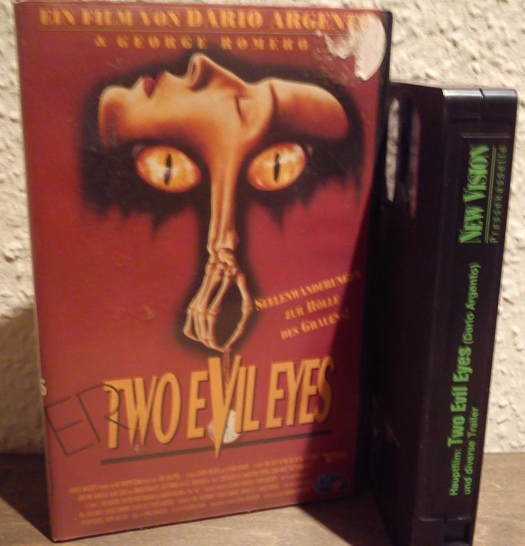 VHS - Dario Argento and George A. Romero (horror, father of Asia Argento) - Two Evil Eyes (US, 1990) - New Vision Video (PAL)  #Kauhu #Elokuvat #Rendel #Gangsterdam #Rysare #Toiminta #AsiaArgento #Genda #Nicolai #Iwakawa #VHS #Videot #Deutschland #Strassburg #Saksa #Tyskland #AngelaMerkel #EUmigrantcrisis #Covfefe #Strongandstablemyarse #Opel #Alpina #Audis2 #BMW535i #WolfgangSchauble #Salzburg #Austria #Vienna #Prague #preBrexit #Nostalgie #Embassies #EU #Erotik #Troma #Toxie #Pingas…