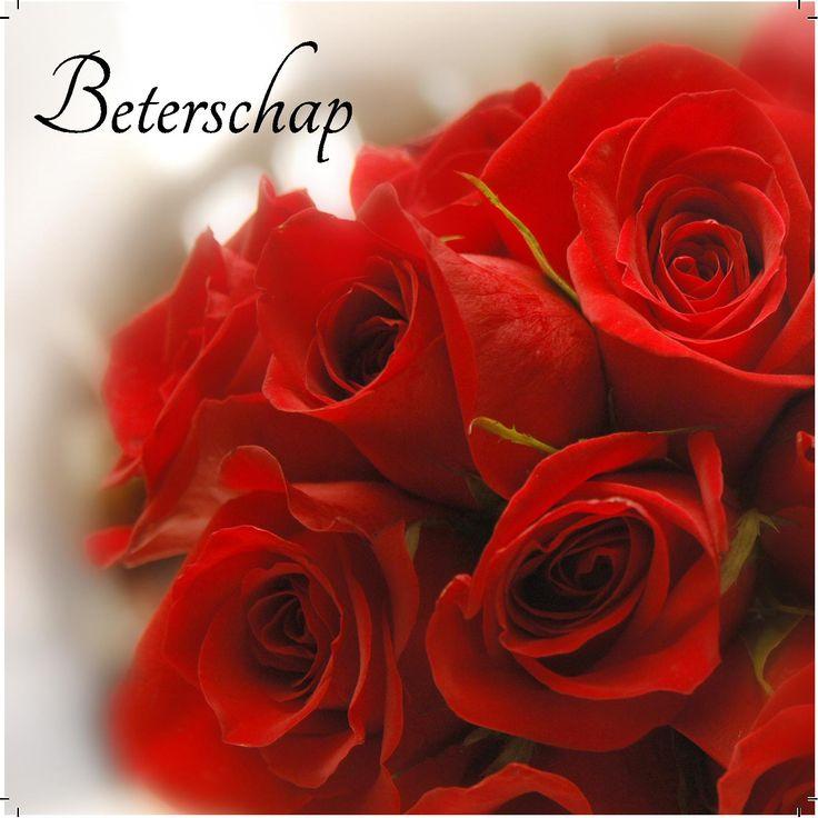 Design: Fastcards www.fastcards.nl - Beterschap mooie rooie rozen