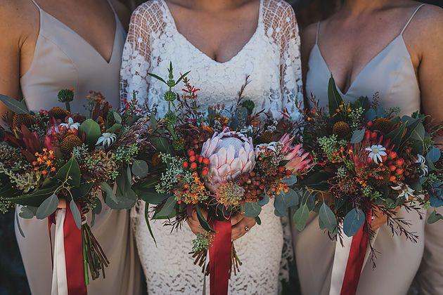 Native flower wedding bouquet   Naomi Rose Floral Design   Bright native flowers