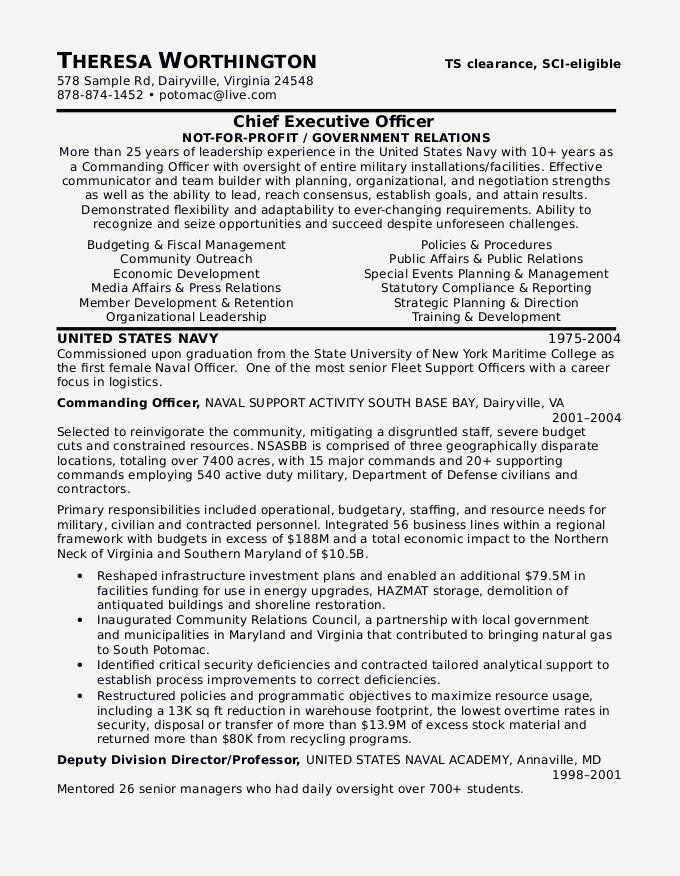 25 Military To Civilian Resume Template In 2020 Sample Resume Resume Examples Resume Format Download