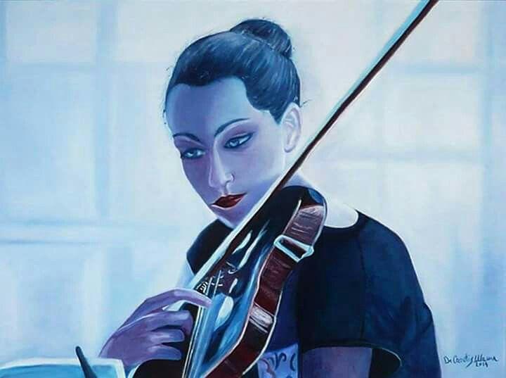 """""""La Violinista"""" - olio su tela 45x65 - anno 2013"""