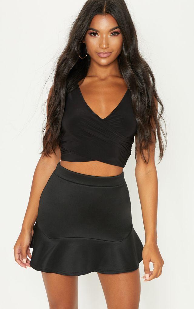 c0b0bb1704 Verity Black Flippy Hem Mini Skirt | Fancy Finds | Mini skirts ...