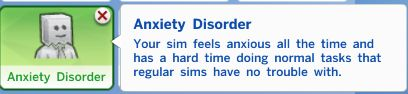 My Sims 4 Blog: Anxiety Disorder Trait by Castielscelestieldick