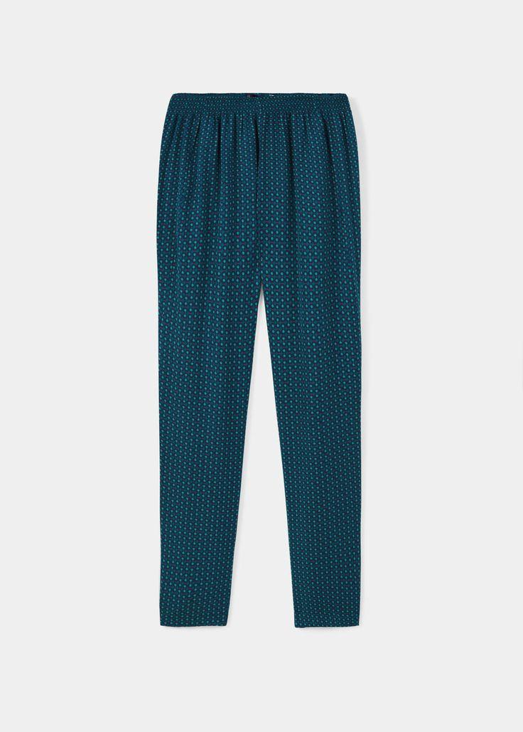Pantaloni fluidi stampati | VIOLETA BY MANGO