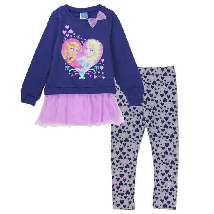Sizes 4 5 6 Made From Top Cotton Polyester Leggings Spandex Label Disney Frozen Officially Licensed Girls Clothing
