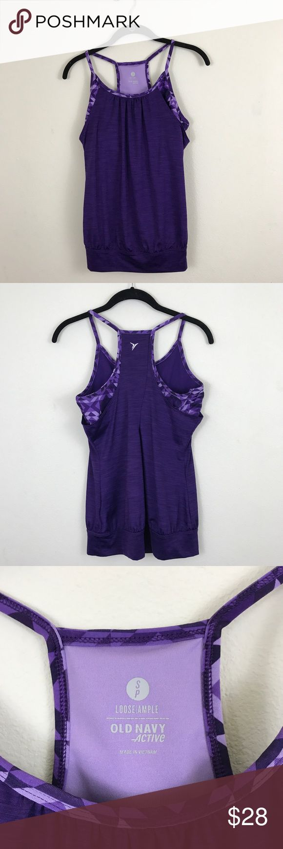 Old Navy purple athletic tank Purple strappy athletic tank with built in bra.  EUC. D Old Navy Tops Tank Tops