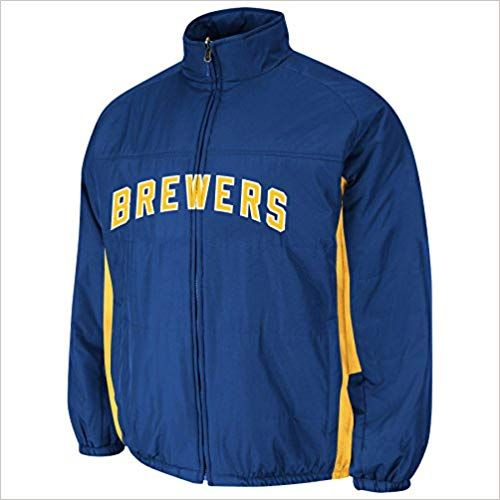 low priced 03eaf 3d872 Amazon.com: Milwaukee Brewers Authentic 2015 Therma Base ...