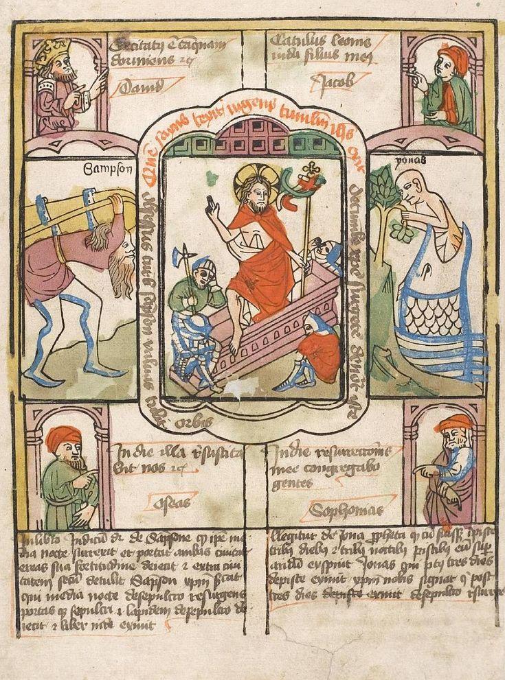 Biblia Pauperum, Opstandelse.