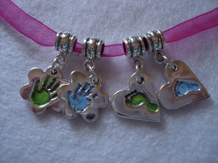 Green & Blue charms