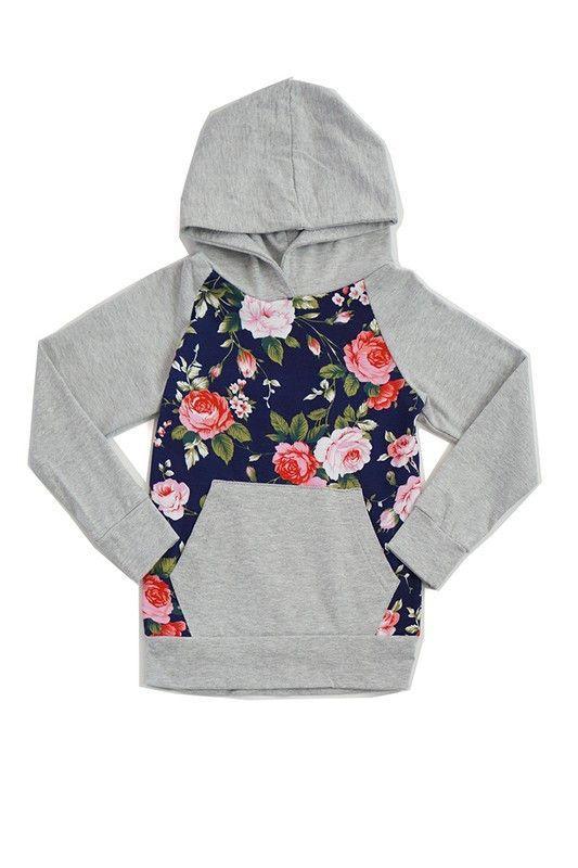 Floral Hoodie w/ Pocket