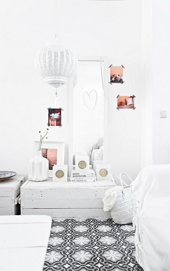 Vosgesparis: Modern Moroccan style in Black and White  home decor  white