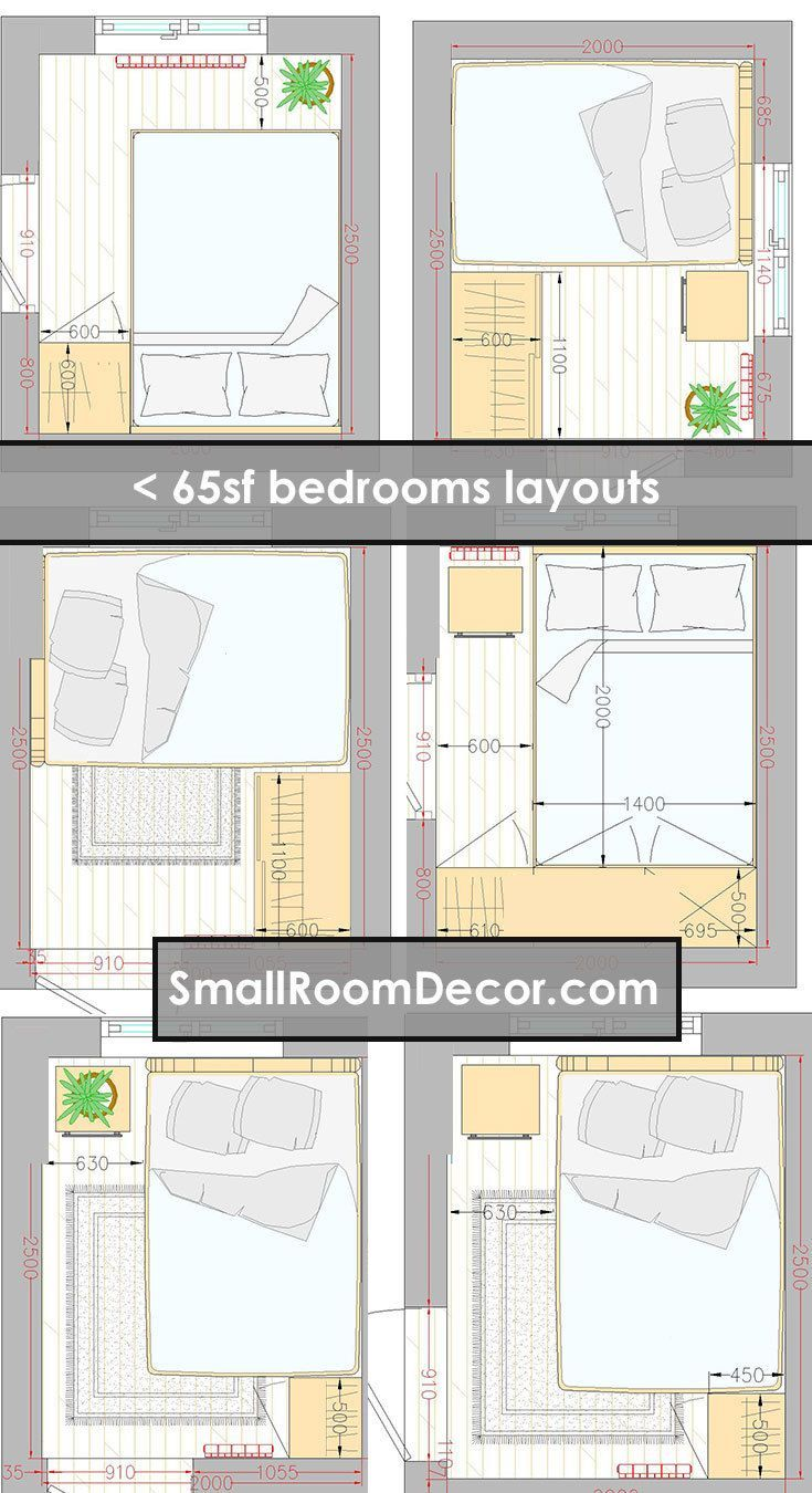 16 Standart And 2 Extreme Small Bedroom Layout Ideas In 2020 Small Bedroom Layout Master Bedroom Layout Small Room Layouts